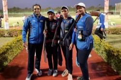 Women S Trap Team Wins Silver As India Finish Year S First Shotgun World Cup With Two Medals