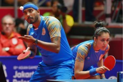 Table Tennis Sharath And Manika Enter Mixed Doubles Final At Asian Olympic Qualification Tournament
