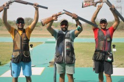 Issf World Cup 2021 India Sign Off With Double Gold In Trap Team Competitions