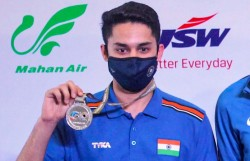 Issf World Cup 2021 India Settle For Silver In 25m Rapid Fire Team Event