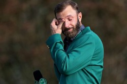 The Masters Dustin Johnson Starts Augusta Defence With Lee Westwood Jordan Spieth Last Out