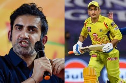 Ipl 2021 Gautam Gambhir Feels Ms Dhoni Should Bat Higher Up Order To Lead From Front