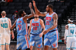 Nets Win Without Harden In Aldridge Debut Curry And Westbrook Light It Up