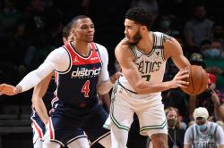 Nba Tatum Scores 50 Celtics Seventh Seed Wizards Pacers
