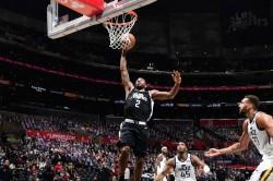 Jazz Clippers Game 3 Paul George Kawhi Leonard Donovan Mitchell