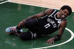 Depleted Nets Wait On Irving Injury Update Physical Bucks Level Nba Playoff Series