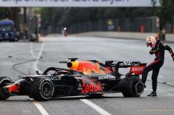 Perez Profits From Baku Chaos After Verstappen Crash And Hamilton Error