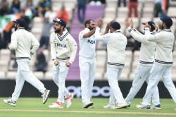Wtc Final Day 5 Tea Break Mohammed Shami Grabs A Four For As India Restrict New Zealand To