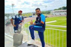 World Test Championship Final Rohit Sharma Rishabh Pant Share Image Upon Arrival In Southampton