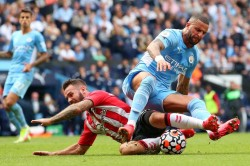 Manchester City 0 0 Southampton Champions Held After Walker And Sterling Var Drama