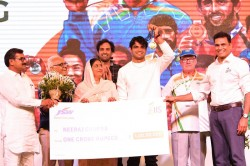 Olympic Champion Neeraj Chopra And Other Tokyo Games Participants Felicitated By Jsw Sports