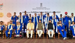 Sports Minister Felicitates Triumphant Paralympians Hopes For Better Show In