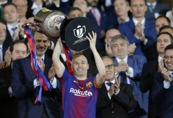 Barca lift 30th Copa del Rey