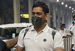 IPL: MSD arrives in Chennai