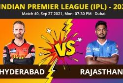 IPL 2021, SRH vs RR Match 40 Highlights