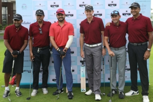 Cricketers bat for golf at the Louis Philippe Celebrity Pro-Am