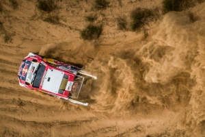 Al Attiyah takes slender lead on the opening day of Silk Way Rally
