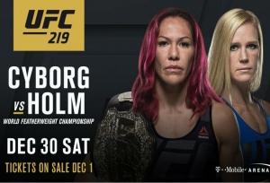 Cyborg Vs Holm confirmed for UFC 219