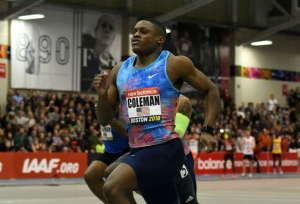 Coleman breaks world 60M record