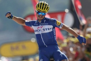 Tears of joy for Alaphilippe