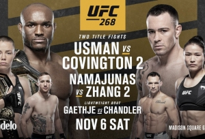 Two title rematches headline UFC 268