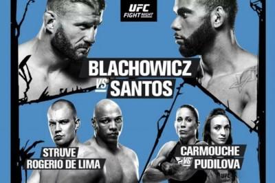 Ufc Fight Night 145 Blachowicz Vs Santos Fight Card And Schedule Mykhel