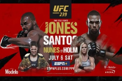 UFC 239: Jones vs  Santos fight card, preview and schedule