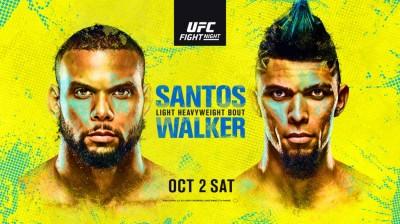 Watch UFC Fight Night: Santos vs. Walker 10/2/21