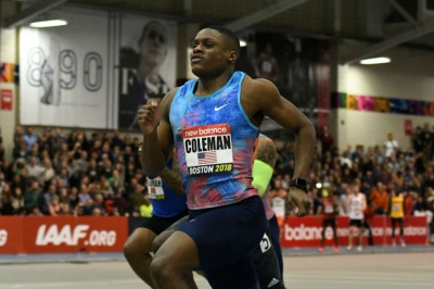 Coleman breaks world record in 60M
