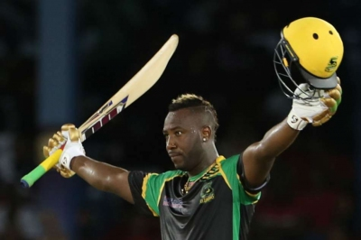 Russell stars with hat-trick, fastest CPL century