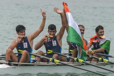 India claim gold in quadruple Sculls