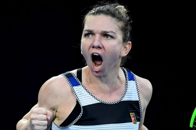 Halep storms back to reach final
