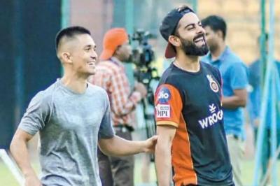 Kohli thanks Chhetri for visiting RCB