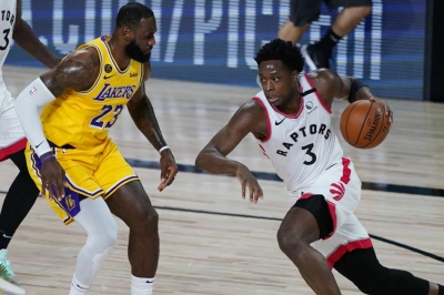 Raptors top LeBron's Lakers