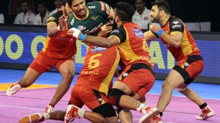 UP Yoddha qualify for play-offs despite loss against Bengaluru Bulls