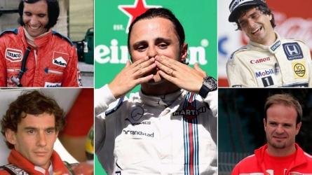 Brazilian F1 greats over 48 seasons