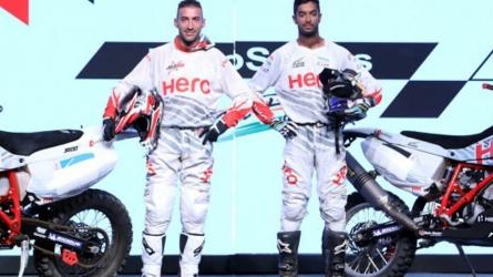 Santosh, Rodrigues, Mena in Dakar team