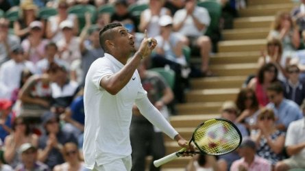 Kyrgios fined for colourful language
