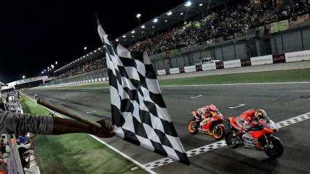The sensational last lap show at Qatar MotoGP!