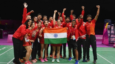 CWG 2018: India bag badminton team gold