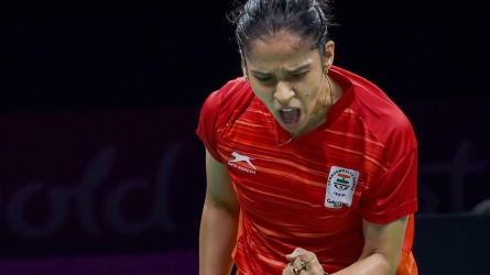 CWG 2018: Aggressive Saina clinches gold, silver for Srikanth