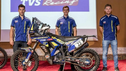 TVS announces 4-rider team for Dakar