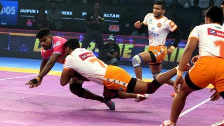 PKL: Jaipur Pink Panthers beat Puneri Paltan