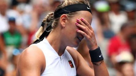 Azarenka breaks down in tears