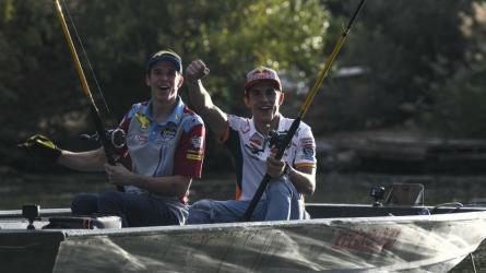 Gone fishing! Marc, Alex Marquez gear up