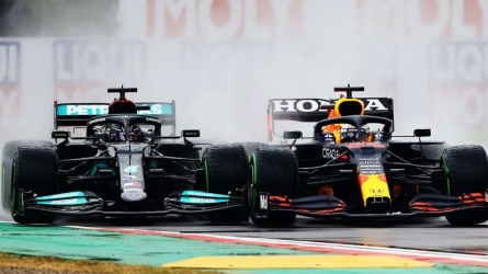 Max wins but Lewis rescues second