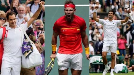 Federer v Djokovic v Nadal: Grand Slams