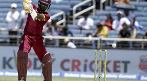 Evin Lewis' 176 in vain as England beat WI in D/L scramble
