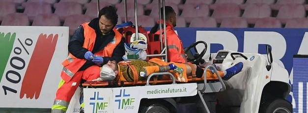 Ospina in hospital after collapse