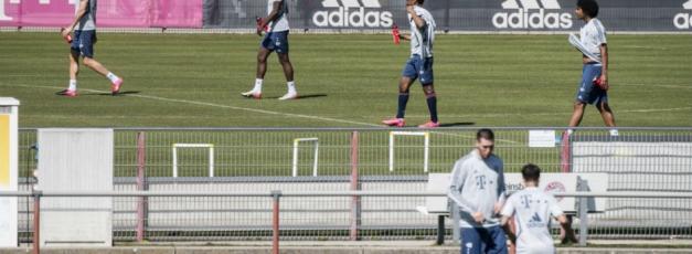 Bundesliga stars glad to train again